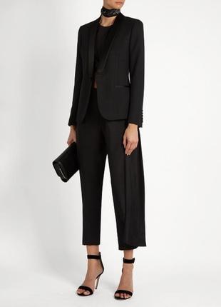 Блейзер пиджак жакет черный с сатиновыми атластыми лацканами качественный новый