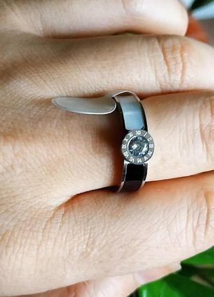 Кольцо серебро нержавеющая сталь инь янь