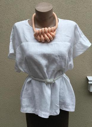 Лён,блуза,рубаха с воланами по рукавах,большой размер,этно,бохо стиль