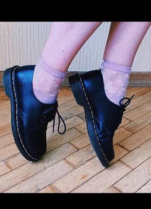 Грубые чёрные кожаные ботинки туфли dr. marnens