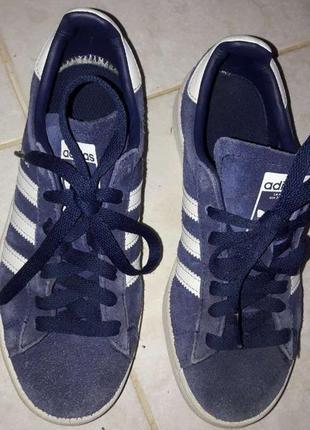 Спортивные кроссовки ,замшевые  фиолетовые   adidas campus 36