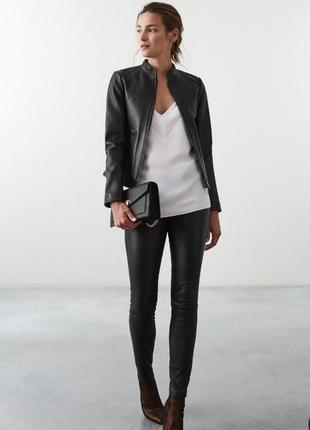 Кожаная куртка из натуральной кожи черная чорна шкіряна натуральна шкіра куртка