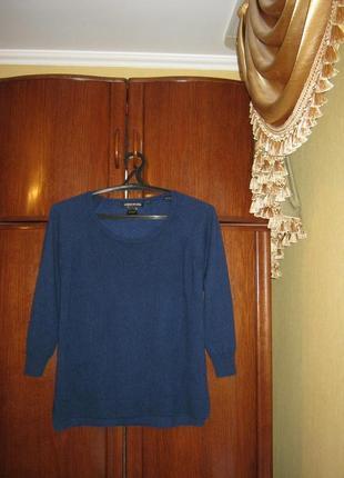 Джемпер оверсайз cashmere & cotton, 100% натуральный кашемир, размер l