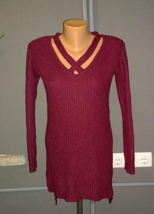Джемпер свитер кофточка с драпировкой select