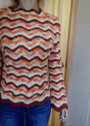 Cвитер, пуловер ,100% шерсть, размер 42(наш)