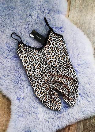 Майка в анималистический принт леопар леопардовая
