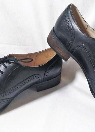 Туфли женские оксфорды кожаные черные clarks