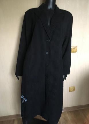 Длинный пиджак в полоску tippy