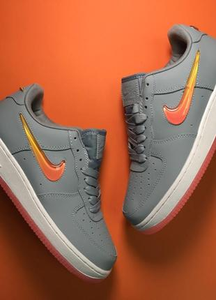 Кроссовки: nike air force 1 low grey orange