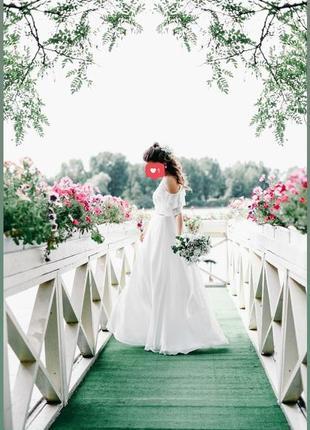 Свадебное платье итальянское а-силует