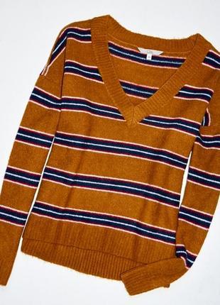 C&a. ckh clokhouse. модный трендовый свитер горчичного цвета в полоску. хс.