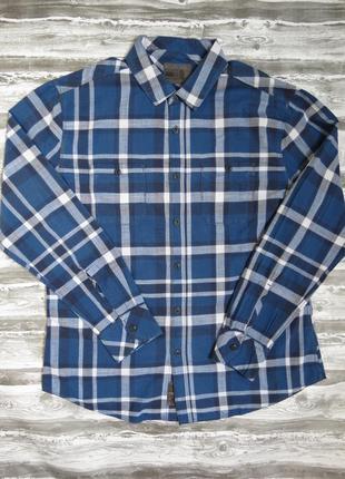 Мужская рубашка в клетку размер l