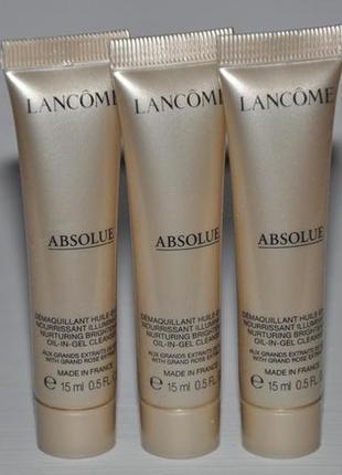 Масло-в-геле для очищения кожи лица lancome nurturing brightening