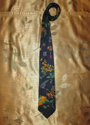 Эксклюзивный номерной шелковый галстук leonard paris
