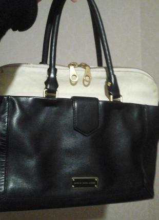 Срочно! сумка кожаная marc jacobs большая. оригинал 100% большая.