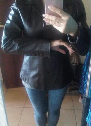 Пиджак натуральная 100% кожа