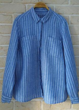 Базовая льняная рубашка, большой размер