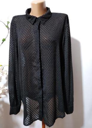 Блузка рубашка из ткани плюмети