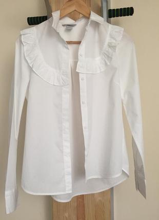 Біла котонова сорочка від h&m
