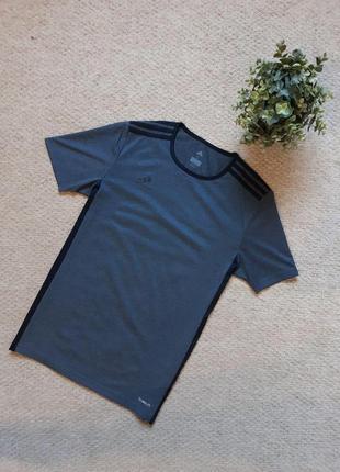 Мужская футболка adidas темно-серая