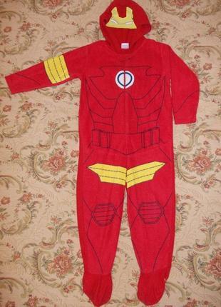 Пижама кигуруми слип человечек рейнджер на 3-4 года рост 98-104 см