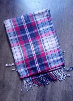 Утепляемся🧣красивый широкий теплый шарф в клетку