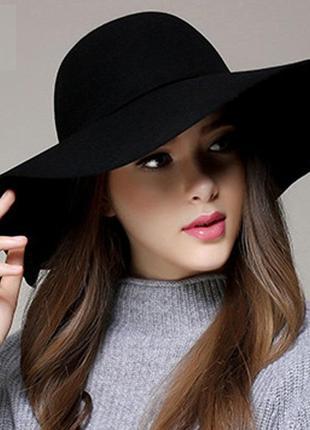 13-5 модний весняно-осінній капелюх женская шляпа с широкими полями
