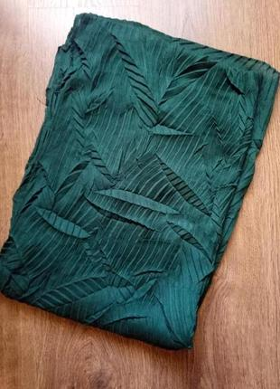 Красивый длинный широкий шарф h&m красивого изумрудного цвета