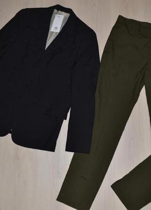H&m шерстяной костюм р.m-l. новый, с биркой