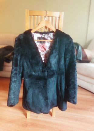 Шуба-пиджак из кролика