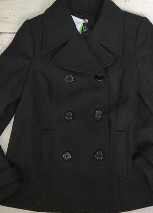 Теплое укороченное пальто h&m , размер 38 (165/88а).