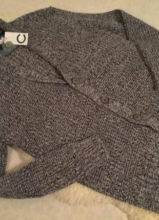 Мега стильный вязаный мужской кардиган пиджак с застежками на пуговицы от cubus р. л 👔🕶💼