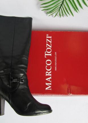 Кожаные деми сапоги marco tozzi р.36-36.53 фото