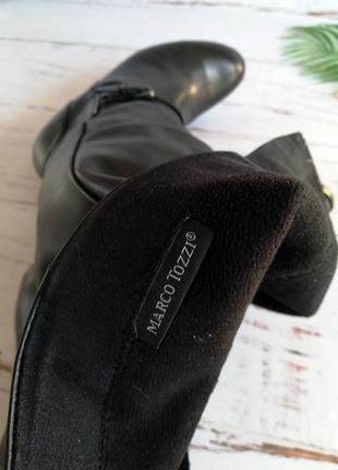 Кожаные деми сапоги marco tozzi р.36-36.57 фото