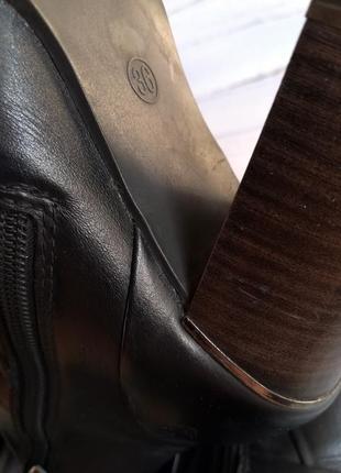 Кожаные деми сапоги marco tozzi р.36-36.59 фото