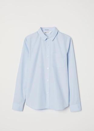 Голубая рубашка мальчику 10/11 лет от h&m