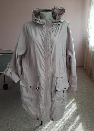 Осенняя качественная курточка -парка 56-58р