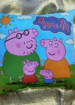 Декоративная сувенирная подушка peppa pig