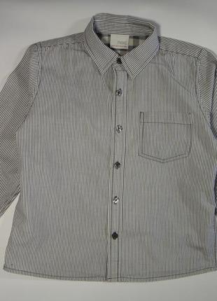 Рубашка next в полоску  4-5 лет, 110 см