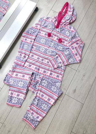 Пижама слип флисовая