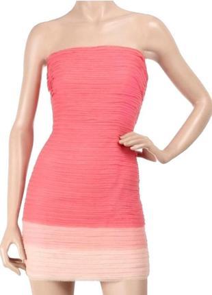 Круте шовкове плаття alice + olivia преміум бренду платье омбре амбре полоска бандо