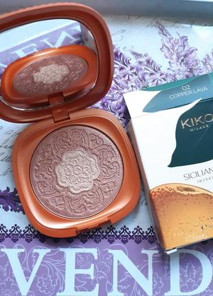 Sicilian notes highlighter duo kiko milano двухцветный хайлайтер kiko #02