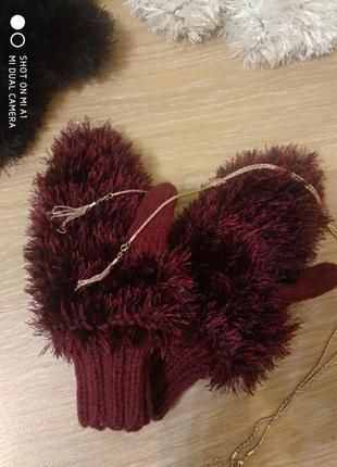 Теплые варежки, рукавички