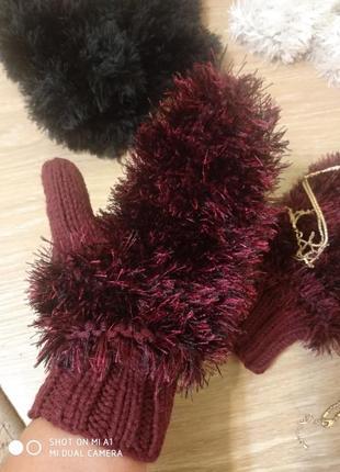 Теплые варежки, рукавички2 фото