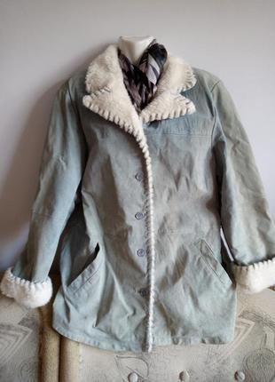 Куртка из экокожи, р. 20