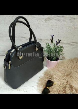 Женская офисная сумка небольшого размера david jones 5816-1t серая