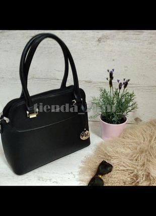 Женская офисная сумка небольшого размера david jones 5816-1t черная