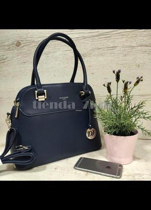 Женская офисная сумка небольшого размера david jones 5816-1t синяя