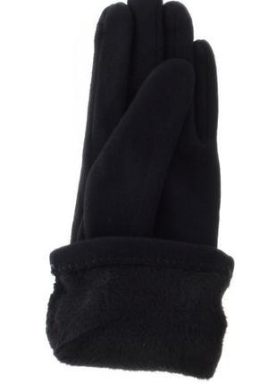 Замшевые утепленные перчатки с драпировкой2 фото