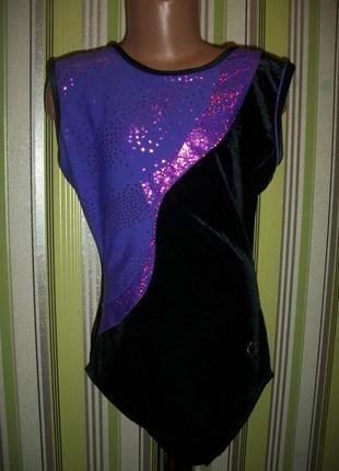 Велюровый купальник для гимнастики,танцев указан 36-38 размер zest